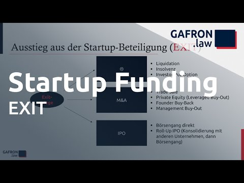 Startup Funding: EXIT (Secondary, Trade Sale, IPO) und Exit-Klauseln