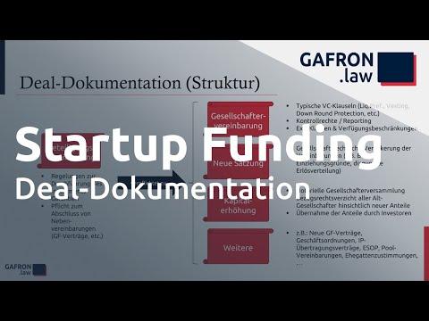 Startup Funding: Deal-Dokumenation und Umsetzung